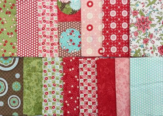 Bliss Bonnie and Camille moda fabrics 15 FQ set OOP HTF