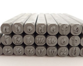 Metal Stamp Set-Bradley Font- 3mm Lowercase Alphabet Metal Stamping Set-Good for use on stainless steel blanks-Metal Stamping Set