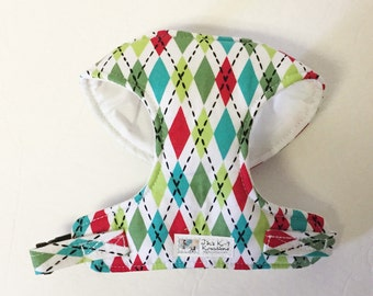 Argyle Comfort Soft Dog Harness - Made to Order-