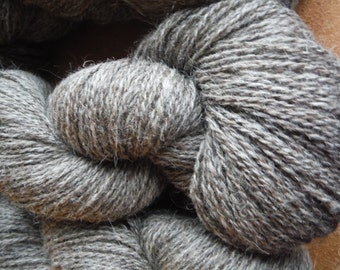 Natural Farm Fresh 70/30 Jacob Wool and Mohair Sport Weight Yarn, approx 4 oz/400 yards