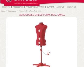 Singer adjustable dress form Size small
