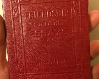 friendship and other essays Originally published in 1895, a collection of essays from henry david thoreau.