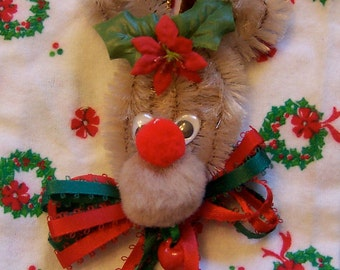 chenille pipe cleaner reindeer ornament