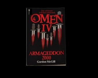 1983 Horror. Omen IV: Armageddon 2000, by Gordon McGill. A Futura Paperback. 666. Book. Black and Red.