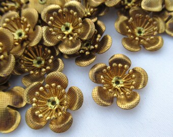 10pcs Brass Flower 17.5mm Filigree Flower Vintage Style f107