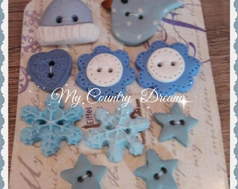 "Handmade Buttons ""Winter Time"""