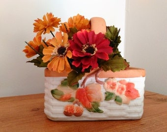 Vintage Teleflora Basket Autumn Leaves