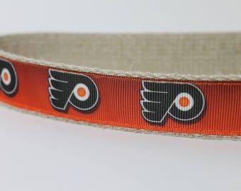 Philadelphia Flyers hemp dog collar or leash