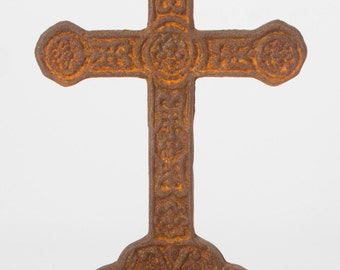 Rustic Cast Iron Standing Cross