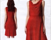 Donna Karan New York Lined Pullover Dress Sewing Pattern - Vogue 1351 - Sizes 14 - 16 - 18 - 20 - 22 - UNCUT