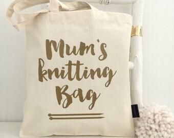 Knitting Bag - knitting gift for mum - knitting project bag