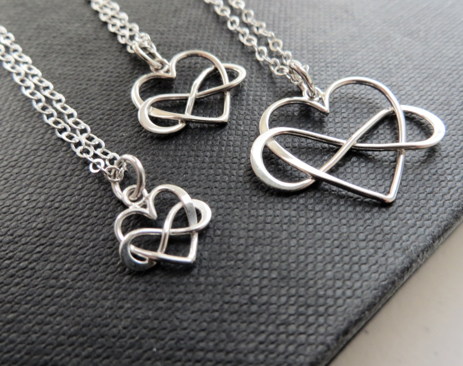 generations jewelry infinity heart necklace in three by. Black Bedroom Furniture Sets. Home Design Ideas