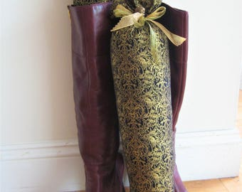 NEW - Black and Gold Boot Trees