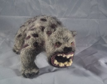 Needle Felt Bandersnatch Figure - Customizable Alice in Wonderland
