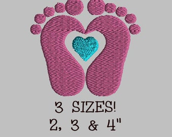 Buy 1 Get 1 Free! Baby Feet Embroidery Design Baby Footprints Embroidery Design Baby Footprints Heart Embroidery Design Baby Feet Heart