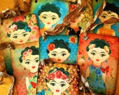 8 Assorted Frida Kahlo Tags