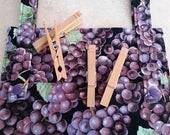 Clothespin Bag- Grapes
