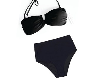Black High Waist Bikini Set FREE SHIPPING