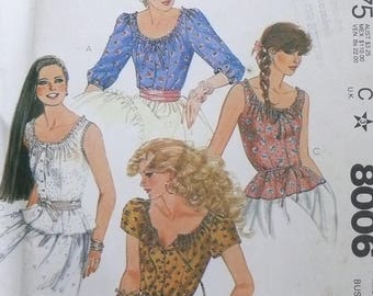 Vogue Peasant Blouse Pattern 24