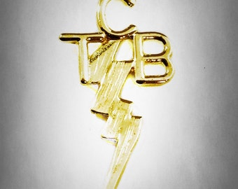 Elvis Presley 14k Kart Gold TCB Pendant Taking Care of Business