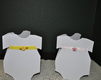 Two Embossed Baby Cards