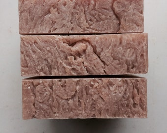 CHERRY ALMOND and Shea Butter -- shampoo Bar - Organic Ingredients - By Dirt Tribe