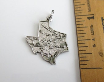 Texas Sterling Silver Travel Charm - Vintage, Lone Star State