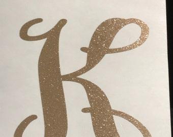 Single Letter Monogram Decal, Single Letter Decal, letter decals, letter decor, letter stickers, glitter letters