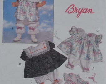Infant's Dress & Pantaloons - Butterick Pattern 6079 - Called Bryan - Sizes NB, S, and M