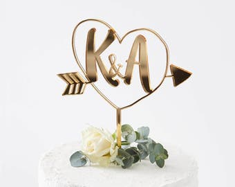 Personalised Initials Arrow Cake Topper