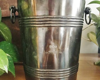 Vintage 1930s Christofle Silver Plated Champagne Bucket from The King George Hotel in Athens