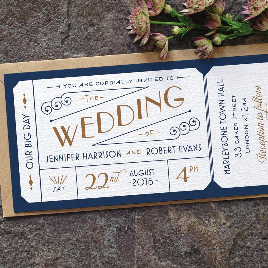 Wedding Invitation Tickets: Formal Admission Ticket Wedding Invitation / By Twoforjoypaper