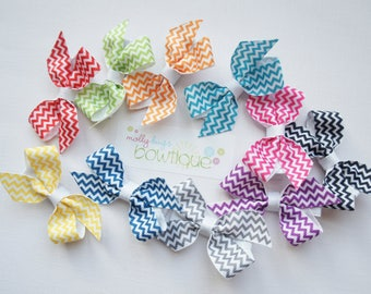Bright Chevron Bow set of 10 great for summer