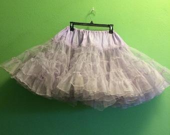Vintage lilac plus size (waist up to 46) crinoline 1950s 50s  xxl
