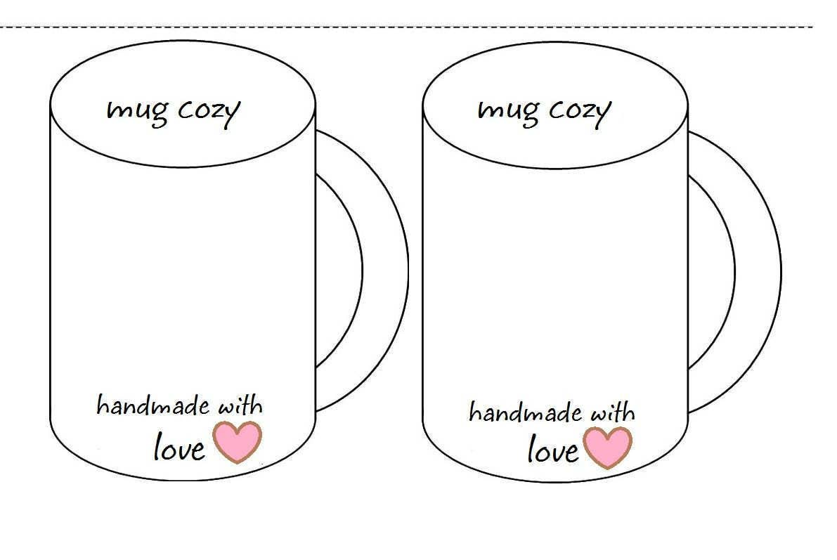 coffee cup cozy template inserts printable holder. Black Bedroom Furniture Sets. Home Design Ideas