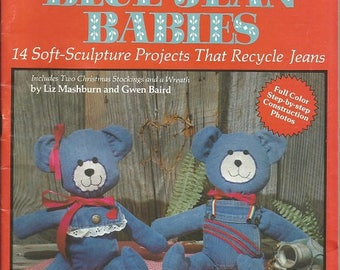 """Vintage Plaid Enterprises Sew it Special """"Blue Jean Babies"""" Soft Cover Book"""