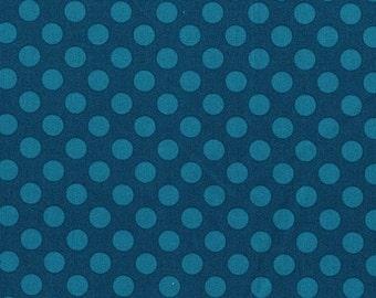 Christmas Sale Michael Miller Fabric - 1 Yard Teal Ta Dot