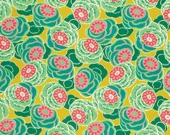 Clouded Floral in Ochre Dream Weaver Fabric by Amy Butler - Half Yard