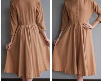 1950s Dress // Jonathan Logan Wool Dress // vintage 50s dress