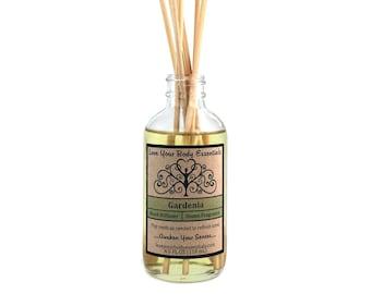 Gardenia diffuser, gardenia reed diffuser, home fragrance, diffuser refill, diffuser oil, aromatherapy diffuser, hawaiian scented diffuser
