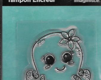 Octopus Acrylic Stamp  --  NEW  --  (#2008)  Sealife