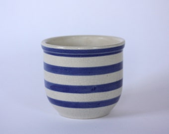 Vintage Ceramic Striped Container, Jar, Canister