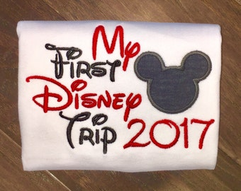 Personalized My First Trip to Disney Boutique Shirt