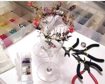 """Winter Sale WHOLESALE Jewelry  Earrings Origami Cranes 3/4""""  1 Dozen ~ unbeaded"""