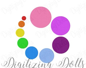 Dot Circle Solid Fill Machine Embroidery Design 1x1 1.5x1.5 2x2 2.5x2.5 3x3 3.5x3.5 4x4 4.5x4.5 5x5 INSTANT DOWNLOAD
