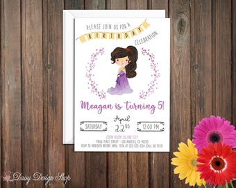 Birthday Party Invitations - Megara and Laurel in Watercolor Style - Hercules - Set of 20 with Envelopes
