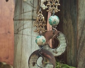 Words No. 7 - Mixed Media Earrings