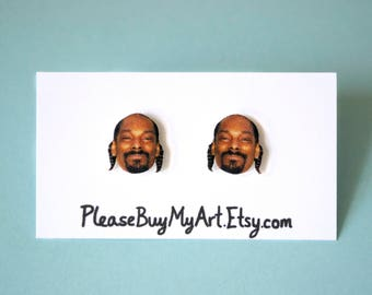 Snoop Dogg Stud Earrings