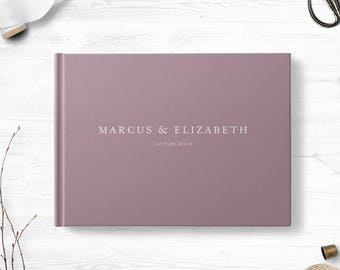 Blank wedding guestbook , Landscape or Portrait, Wedding guest book, Various colors