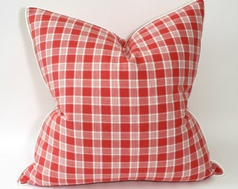 "Free shipping, 20"" plaid pillow cover from Waverly"